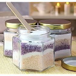 Cornucopia Brands Hexagon Glass Jars, Pack of 12,