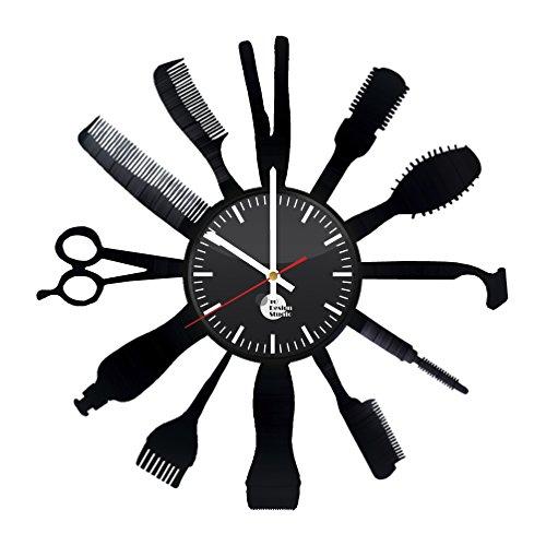 Barbershop Design Handmade Vinyl Record Wall Clock Fun gift