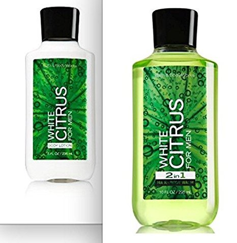 Bath and Body Works White Citrus for Men Body Lotion and Shower Gel set