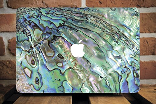 WolfCase Full Cover Clear Shell Case for Apple Macbook Air 13 11 Apple Pro 13 15 2016 2017 Hard Cover Macbook 12 inch Mac Pro Retina 15 13 Blue Pearl Shell Marble, AW2186