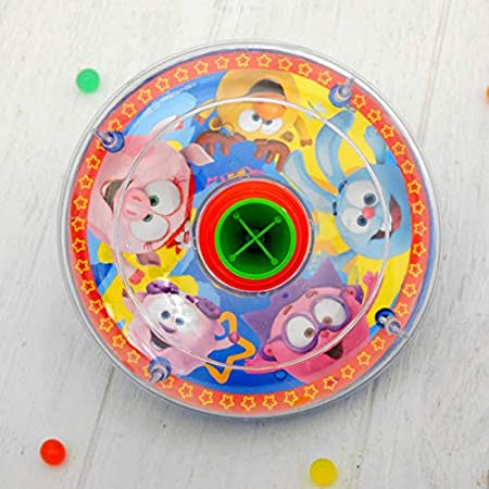 Books.And.More Push Spinner Sit n Spin for Toddler Striped Spinning Toy 6.4x6.4x9.6-inch Toddlers Spinning Toys