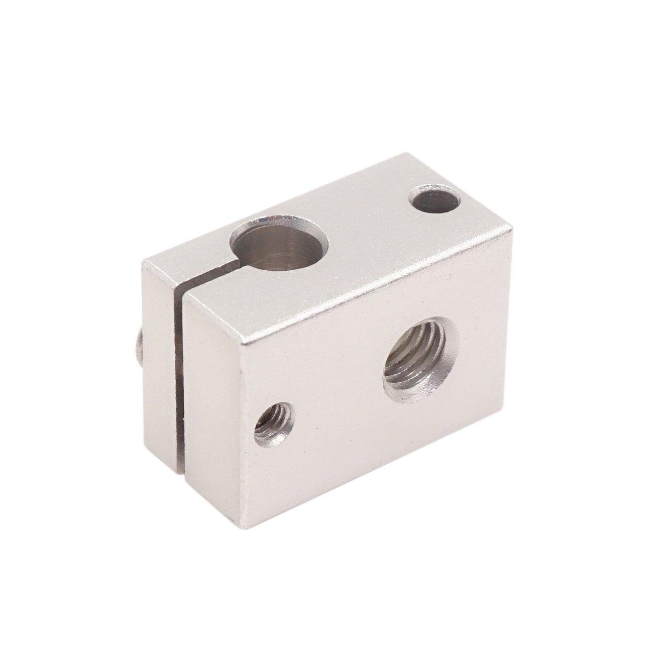 Aluminum WINSINN 3D Printer Sensor Heater Block Compatible with E3D V6 J-Head RepRap Bowden Hotend Extruder for HT-NTC100K PT100 Pack of 5Pcs