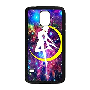 Yellow moon dancing girl Cell Phone Case for Samsung Galaxy S5