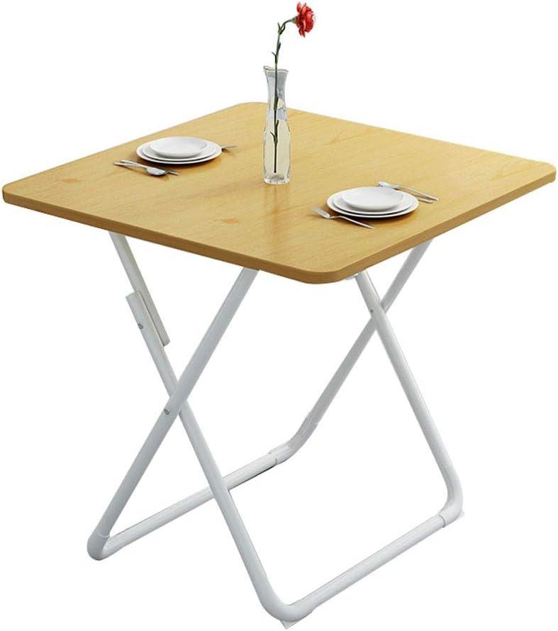 折りたたみテーブル、テレビトレイ&ホームダイニングテーブル小さなアパートの広場表小さなテーブルスナック表、70分の60/80センチメートル M03/04 (Color : Wood, Size : 70×70cm)