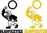 Iowa Hawkeyes Cornhole Set of 6 Vinyl Decal Stickers Herky Bean Bag - Free Window Decal