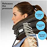 Joker Shoppy Health Care Cervical Neck Traction Air Bag with 3 Layer Inflatable Pillow