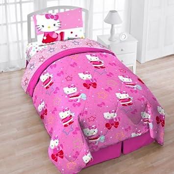 Merveilleux Hello Kitty 4pc Twin Bedding Set