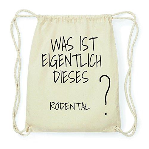 JOllify RÖDENTAL Hipster Turnbeutel Tasche Rucksack aus Baumwolle - Farbe: natur Design: Was ist eigentlich