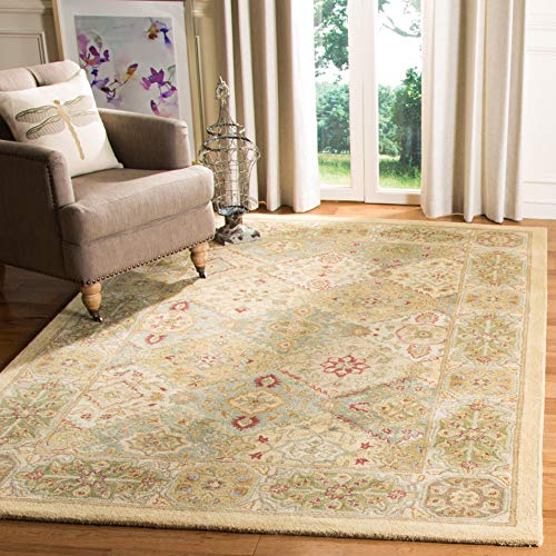 Safavieh Heritage Collection HG512C Handcrafted Traditional Oriental Multi and Ivory Wool Area Rug 4 x 6