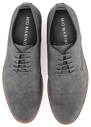 Mio Marino Mens Casual Shoes – Suede Shoes – Perforated Toe – Oxford Shoes for Men, in A Shoe Bag