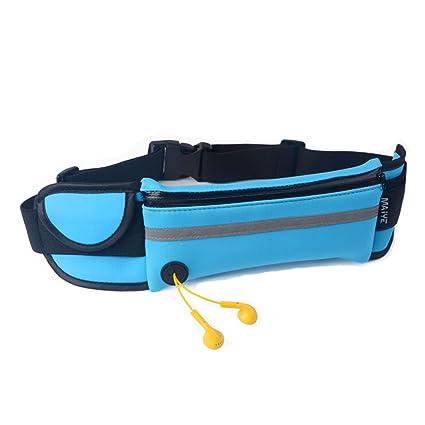 Running cinturón riñonera, bolsillo extra grande compatible con ...