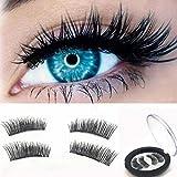 ABC® 1 Pair 3D Magnetic False Eyelashes Lashes Reusable False Magnet(A)