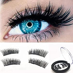 ABC® 1 Pair 3D Magnetic False Eyelashes Lashes Reusable False Magnet(A)