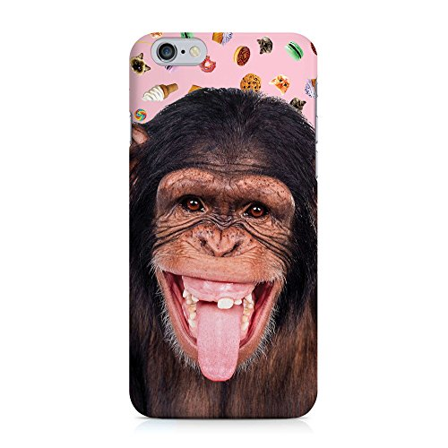 COVER monkey pink Handy Hülle Case 3D-Druck Top-Qualität kratzfest Apple iPhone 6 / 6S