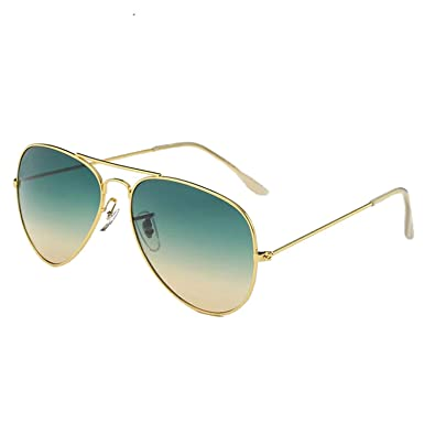 Sunglasses Pilot Aviator Fashion Women Sun Shades Lens Mirror Designer Glasses