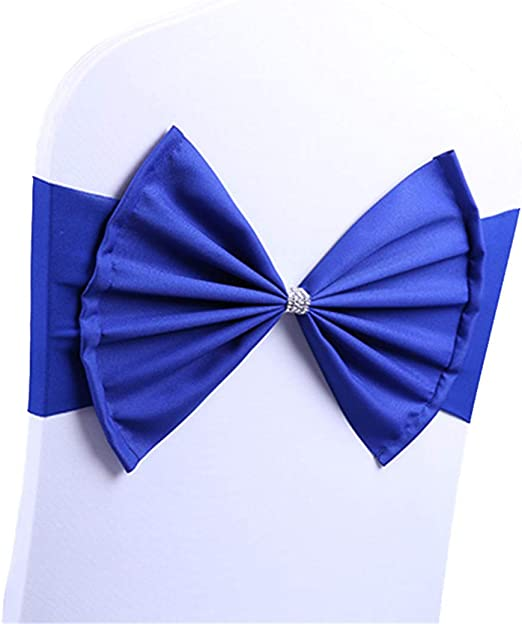 Buckle 100 Wholesale Spandex Stretch Chair Cover Bow Wedding Party Slider Sash