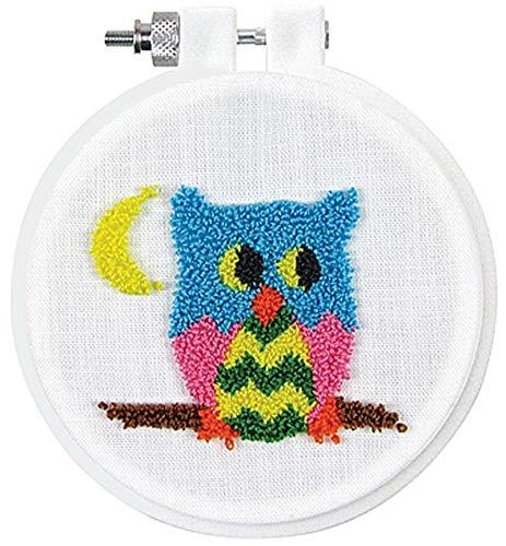 Design Works Punch Needle Kit w//Hoop /& Punch Needle Tool ~ OWL