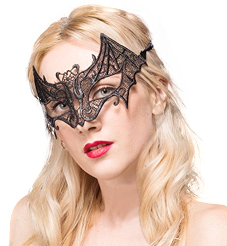 QinMi Lover Women's Lace Eye Mask For Masquerade Party Prom Ball Halloween,Bat