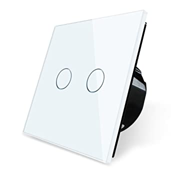 Terrific Wallpad 2 Gang 2 Way Capacitive White Glass Touch Sensor 1 200W Wiring 101 Ferenstreekradiomeanderfmnl