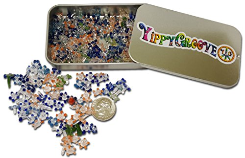 Premium Glass Daisy Pipe Screen ~ 100 Pieces Exceptional Daisy Screens in a Limited Edition YippyGroove StashTin-for a Cleaner, Safer, Ash-Free Smoke -