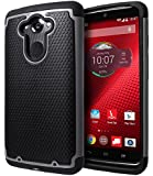 Motorola DROID Turbo Case, Cimo [Shockproof] Heavy Duty Shock Absorbing Dual Layer Protection Cover for Motorola DROID Turbo (Verizon XT1254, Not Compatible with Ballistic Nylon Version) - Gray
