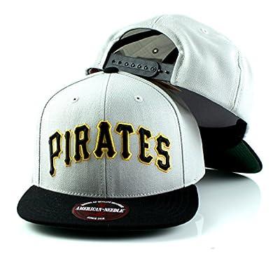 MLB American Needle Scripteez Cooperstown Wool Adjustable Snapback Hat (Pittsburgh Pirates)