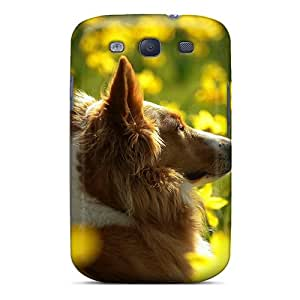New Galaxy S3 Case Cover Casing(dog On The Yellow Meadow)