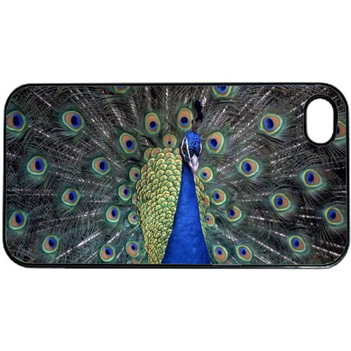 Peacock Apple iPhone 4 or 4S PLASTIC cell phone Case / Cover Great Gift Idea
