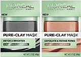L'Oreal Pure-Clay Mask Bundle: (1) Detox & Brighten Pure-Clay Mask 1.7 Oz. & (1) Exfoliate & Red Algae Pure-Clay Mask 1.7 Oz. Review