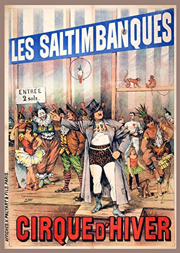 "20""x30"" Decoration Poster printed on CANVAS.Les Saltimbanques.Cirque D"