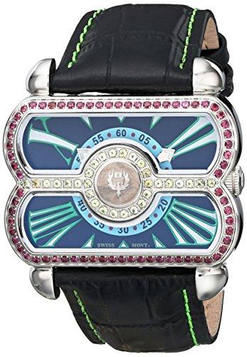 (Brillier Women's 24-02 Analog Display Swiss Quartz Black Watch)