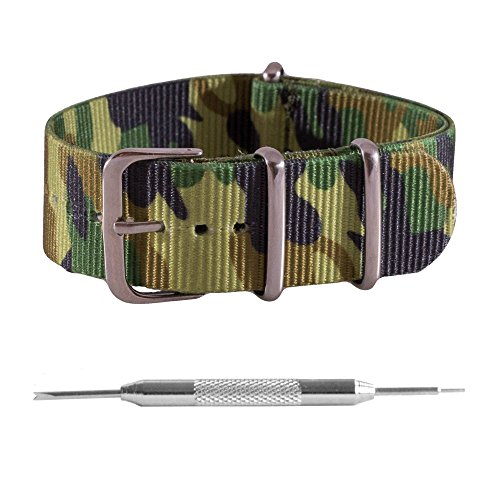 66132b4dc18 Benchmark Straps 22mm Camo Printed NATO Watchband + Spring Bar Removal Tool  (More Sizes   Colors Available)