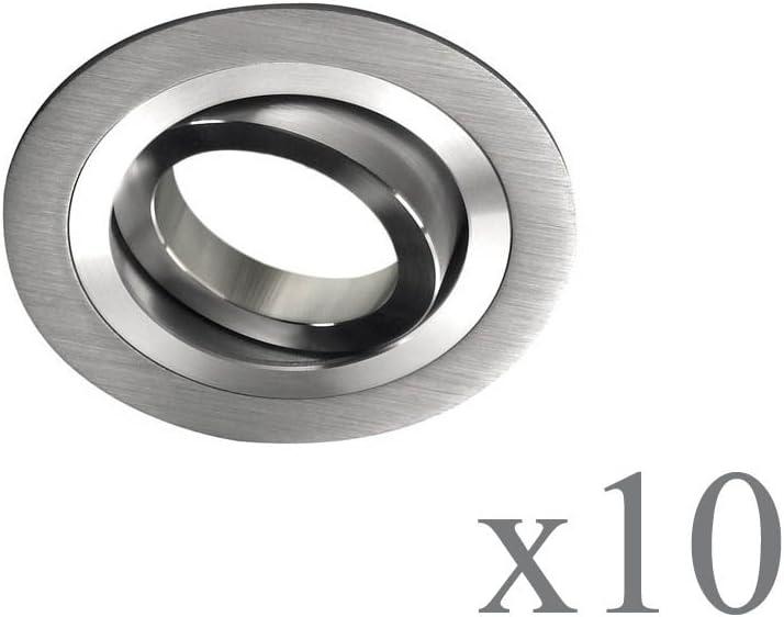 gris wonderlamp classic w-e000108/Pack de spots encastrables avec douille gU10 9.3/x 2.5/cm lot de 10