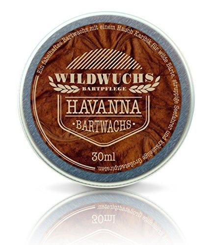 Wildwuchs Bartpflege - Bartwachs HAVANNA - Moustache Wax - Beard Balm für Bart-Styling