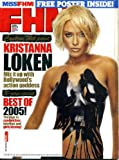 FHM January/February 2006 Kristanna Loken on Cover (Body Painting), Free Poster (Lauren Harris), Sarah Burke (X Games Freeskier), Miss FHM, Danny Way/Skateboarder, Lawrence Taylor Q&A