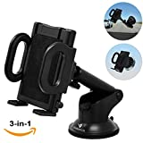 iProductsUS Phone Holder for Car, Universal Car Phone Mount, Hands Free Windshield Dashboard - Best Reviews Guide