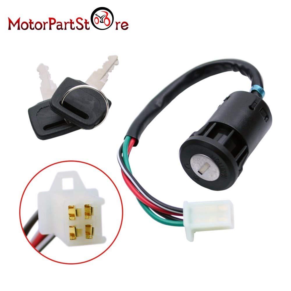 shamofeng 5 Wire Ignition Key Switch with Cap for 110cc 125cc 150cc 250cc Chinese ATV UTV Quad Go Kart Dune Buggy