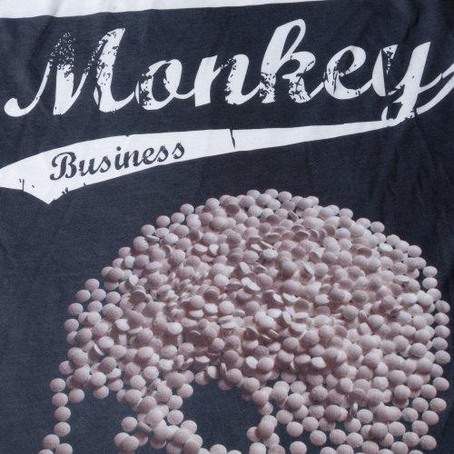 shirt T Skull Pill Accessoryo Bianco Cotone Small Business da misto Stampa Monkey viscosa uomo F4FTPvq