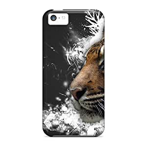 Fashion Tpu Case For Iphone 5c- Vector Tiger Defender Case Cover