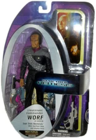 Star Trek Nemesis Lieutenant Commader Worf NF Exclusive Action Figure AFX