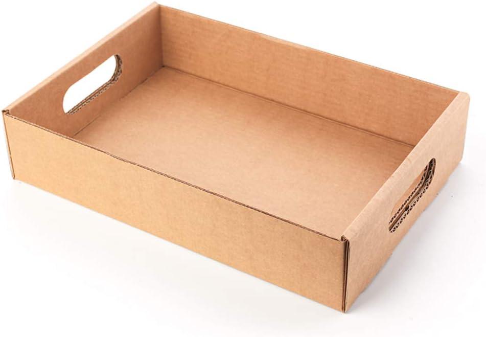 Kartox | Bandeja/Cesta de Cartón Con Asas | 32X22X7 | 10 Unidades: Amazon.es: Oficina y papelería