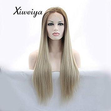 Sylvia Hitzebeständige Kunstfaser Hair Braun Bis Blond Ombre
