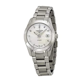 30c89810a Image Unavailable. Image not available for. Color: Longines Conquest  Classic Automatic Mother of Pearl Dial Stainless Steel Ladies Watch  L22854876