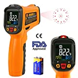 Infrared Thermometer AIDBUCKS PM6530B Digital Laser Non Contact Cooking IR Temperature Gun -58°F to 1022°F with Color Display 12 Points Aperture for Kitchen Food Meat BBQ Automotive and Industrial