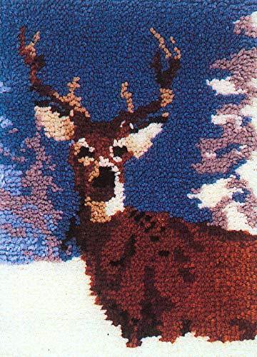 MCG Textiles Winter Deer Latch Hook Rug Kit 19