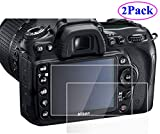 ZLMC 2 Pack Camera Anti-scratch Tempered Glass Film for DSLR Camera Nikon D7000