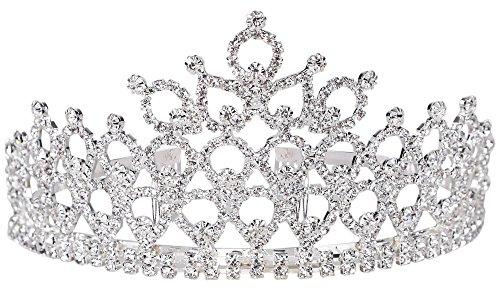 Simplicity Rhinestones Crystal Bridal Headband Pageant Wedding Crown Tiara
