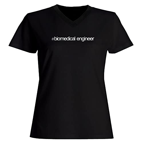 Idakoos Hashtag Biomedical Engineer - Ocupazioni - Maglia a V-collo Donna