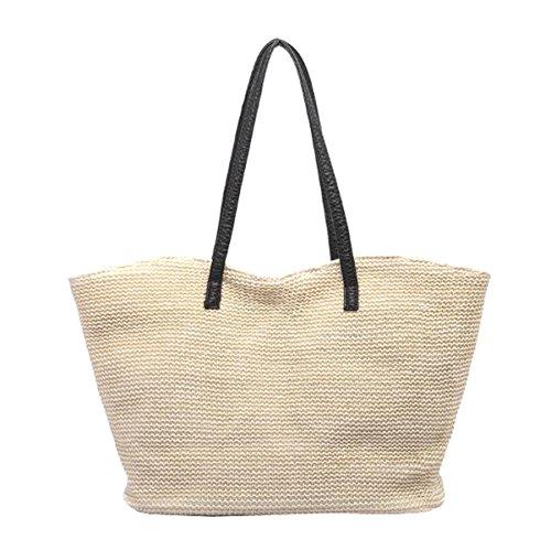 Vacation Defeng Bag Handle Bag Beach Tote Top Women Bag Off white Hobos Bags Weekender Shoulder Handbag Straw UvrqwUxR