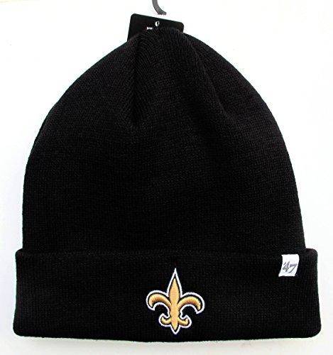 New Orleans Saints Black Raised Cuff Knit Cap Hat Beanie NFL (Saints Stocking Cap compare prices)
